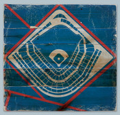 Wrigley Field Print on Reclaimed Wood