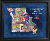St Louis Cardinals State of Mind Framed Print