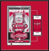 2015 MLB All-Star Game Sports Propaganda Serigraph Ticket Frame