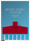 Alabama Crimson Tide - Bryant Denny Stadium Simple Print