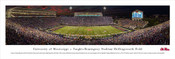 """2014 Ole Miss Rebels"" Vaught Hemingway Stadium Panorama Poster"