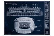 Auburn Tigers - Jordan Hare Stadium Blueprint Poster