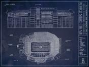Florida Gators - Ben Hill Griffin Stadium Blueprint Poster