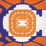 Clemson Tigers - Littlejohn Coliseum City Print