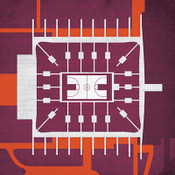 Virginia Tech Hokies - Cassell Coliseum City Print