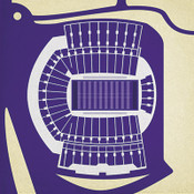Washington Huskies - Husky Stadium City Print