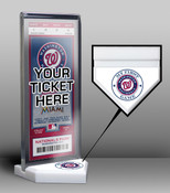 Washington Nationals My First Game Ticket Display Stand