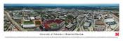 Nebraska Cornhuskers at Memorial Stadium Aerial Panorama Poster