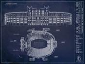 Florida State Seminoles - Doak Campbell Stadium Blueprint Poster