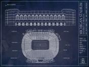Michigan Wolverines - Michigan Stadium Blueprint Poster