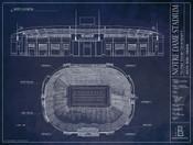 Notre Dame Fighting Irish - Notre Dame Stadium Blueprint Poster
