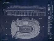 Ohio State Buckeyes - Ohio Stadium Blueprint Poster