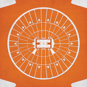 Texas Longhorns - Frank Erwin Center City Print