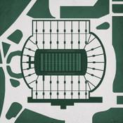 Michigan State Spartans - Spartan Stadium City Print