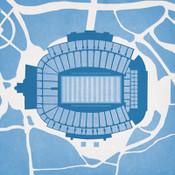 North Carolina Tarheels - Kenan Stadium City Print