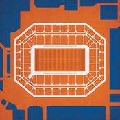 Syracuse Orange - Carrier Dome City Print 1