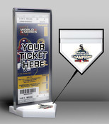 2005 World Series Champions Ticket Display Stand - Chicago White