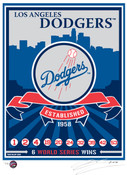 Los Angeles Dodgers Handmade LE Screen Print