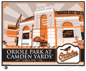 Camden Yards Handmade LE Screen Print