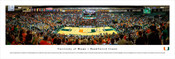 Miami Hurricanes at the BankUnited Center Panorama Poster
