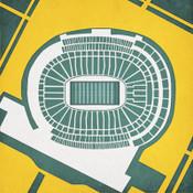 Lambeau Field - Green Bay Packers City Print