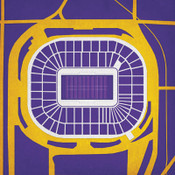 Metrodome - Minnesota Vikings City Print