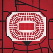Georgia Dome - Atlanta Falcons City Print