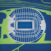 CenturyLink Field - Seattle Seahawks City Print