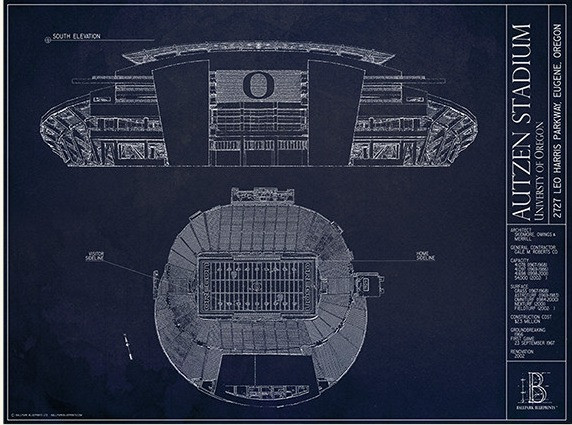 Autzen stadium facts figures pictures and more of the oregon autzen stadium merchandise malvernweather Gallery