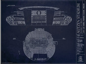 Oregon Ducks - Autzen Stadium Blueprint Poster