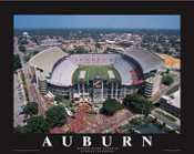 Jordan Hare Stadium Aerial Poster