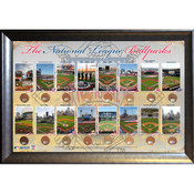 National League Ballparks Framed 20x32 Collage w/Infield Dirt