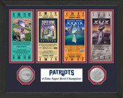 New England Patriots 4-time Super Bowl Champs Ticket Collection