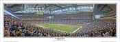 """Inaugural Game"" Detroit Lions Panoramic Poster"