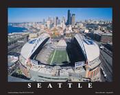 CenturyLink Field Aerial Poster