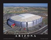 University of Phoenix Stadium Aerial Poster