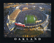 Oakland Coliseum Aerial Poster