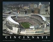 Paul Brown Stadium Aerial Poster