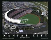 Kauffman Stadium Aerial Poster