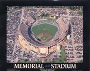 Memorial Stadium Aerial Poster 1