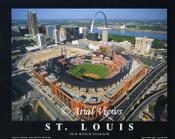 Busch Stadium Aerial Poster