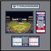 2009 World Series Yankee Stadium Ticket Frame