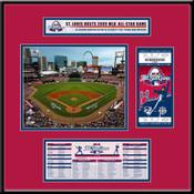 2009 MLB All-Star Game Busch Stadium Ticket Frame