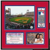 Citizens Bank Park Ticket Frame - Phillies