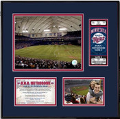 H.H.H. Metrodome Ticket Frame- Twins