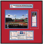 Red Sox 2005 Opening Day / Banner Raising Replica Ticket Frame