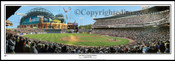 """""""Last Pitch at County Stadium"""" Milwaukee Brewers Panorama Framed Poster"""