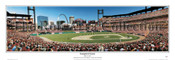 """Inaugural Game"" Cardinals at Busch Stadium Panoramic Framed Poster"