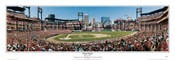 """First Pitch"" St. Louis Cardinals Panoramic Framed Poster"
