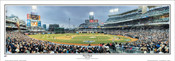 """First Pitch"" San Diego Padres at Petco Park Panoramic Framed Poster"